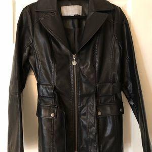 """Black """"pleather"""" jacket"""